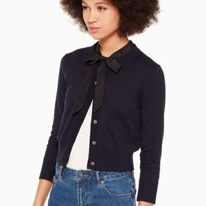 NWT Kate Spade Jewel Button Cropped Cardigan